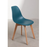 Pack of 4 Scand Nordic dining chairs, thumbnail image 3
