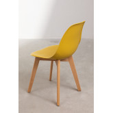 Pack of 4 Scand Nordic dining chairs, thumbnail image 4