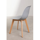 Pack of 4 Scand Nordic dining chairs, thumbnail image 5