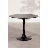 Round Dining Table in MDF and Metal (Ø90 cm) Tuhl, thumbnail image 3