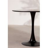 Round Dining Table in MDF and Metal (Ø90 cm) Tuhl, thumbnail image 4