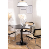 Round Dining Table in MDF and Metal (Ø90 cm) Tuhl, thumbnail image 1