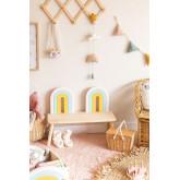 Mini Rainbow Kids Wood Bench, thumbnail image 1