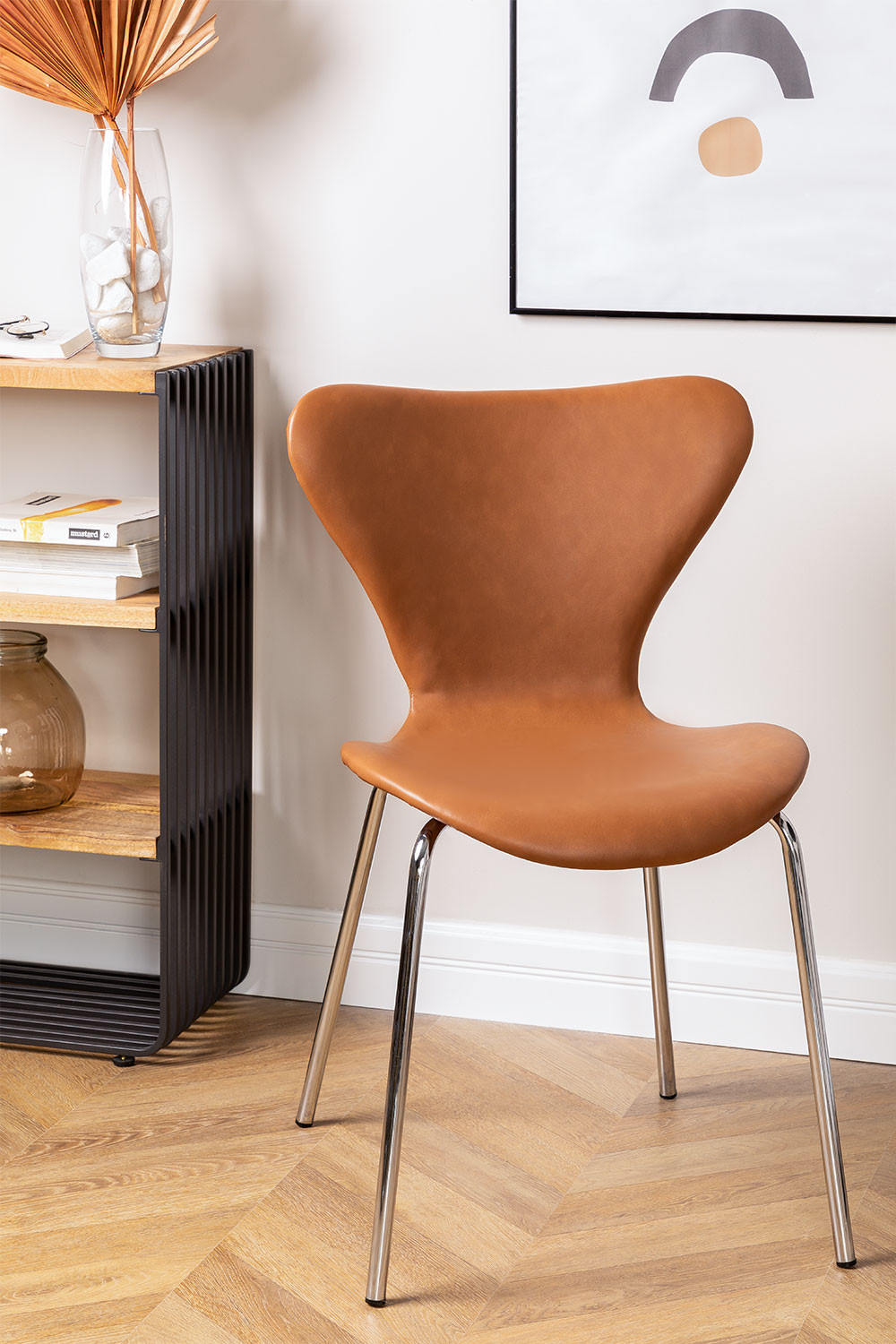 Uit Leatherette Dining Chair, gallery image 1