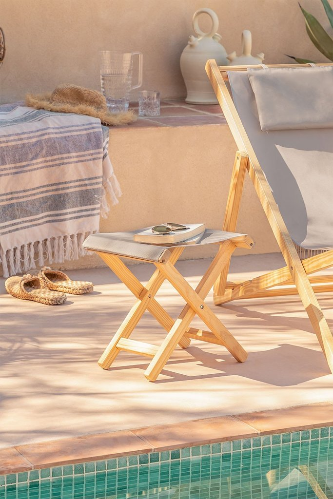 Foldable Wooden Stool Dalma Colors, gallery image 1