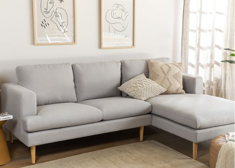 3 Seater Sofa Chaise Longue in Arnold Fabric
