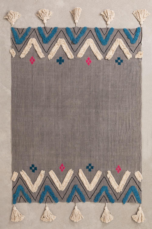 Leko Plaid Blanket in Cotton , gallery image 1