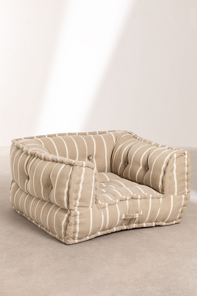 Armchair for Modular Sofa in Cotton Dhel Boho, gallery image 1
