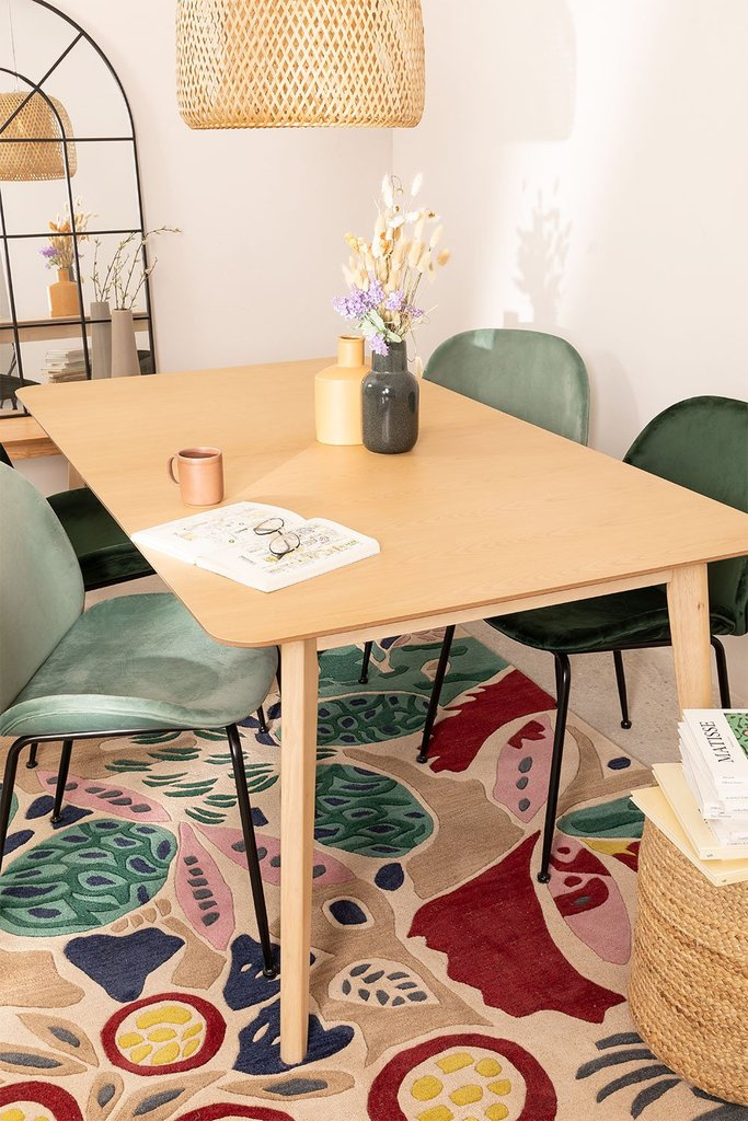 Extendable wooden dining table (180-230 X 100 cm) Ebis, gallery image 1