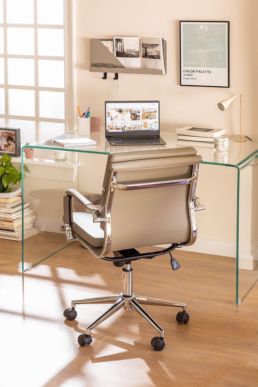 Transparent Glass Desk Hista, gallery image 1