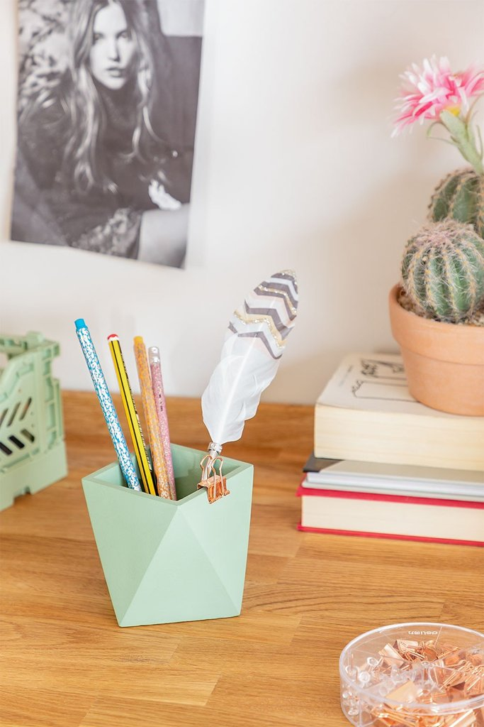 Exa Cement Pencil Holder, gallery image 1