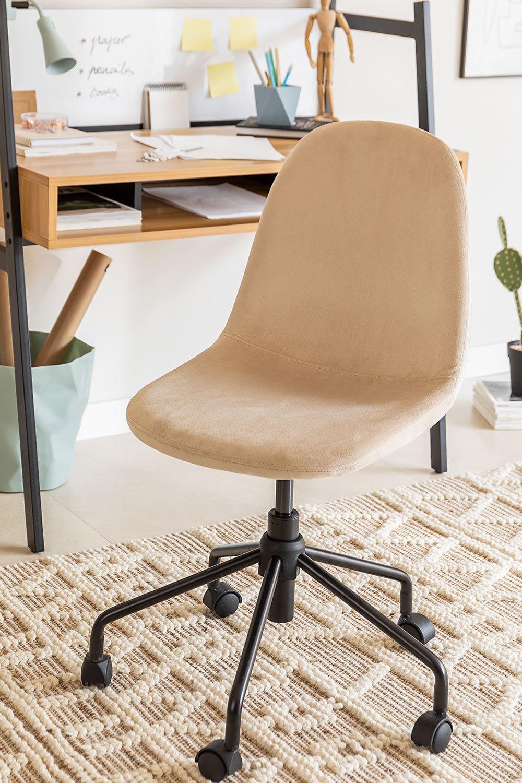 Glamm Velvet Desk Chair, gallery image 1