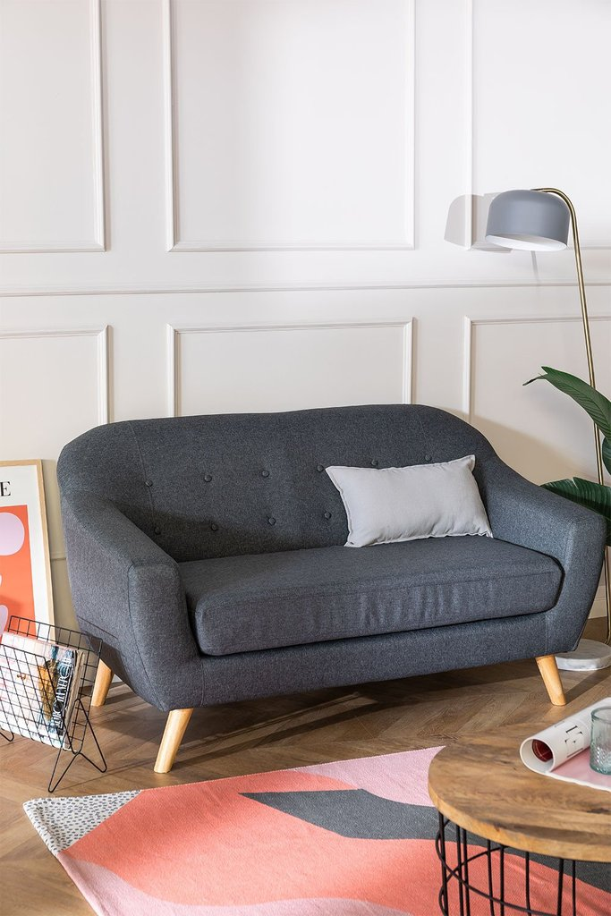 2 Seater Linen and Fabric Sofa Aktic, gallery image 1