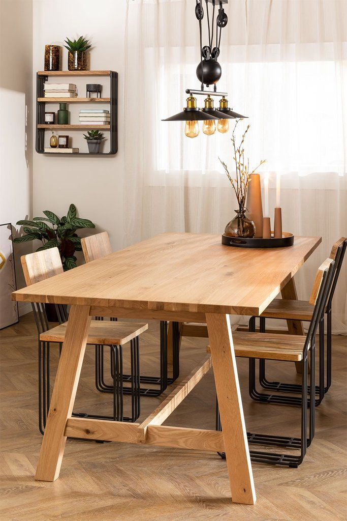 Rectangular Wooden Dining Table (220X95 cm) Kayr, gallery image 1
