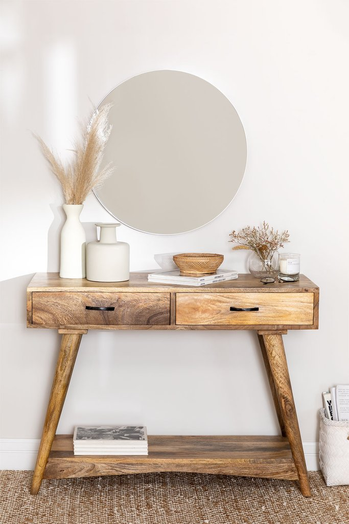 Mango Wood Console Table Pyrsis, gallery image 1
