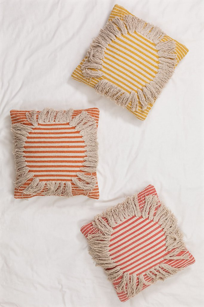 Square Cushion in Cotton (45x45 cm) Fiby, gallery image 1