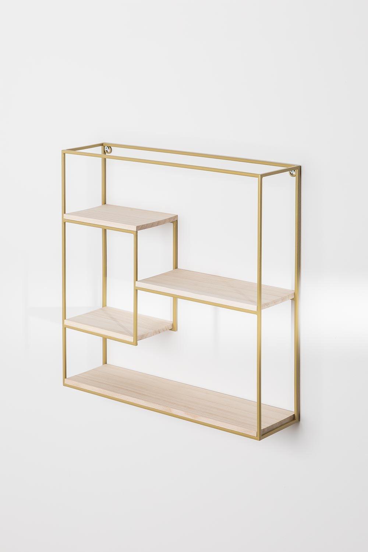 Wood and Steel Floating Shelves Yazek , gallery image 1