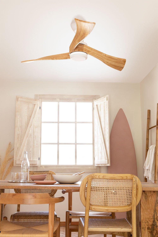 WINDLIGHT CURVE DC - Ultra-quiet 40W DC ceiling fan - Create, gallery image 1