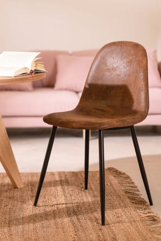 Leatherette Dining Chair Glamm