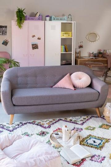 Aktic Three Seater Linen and Fabric Sofa