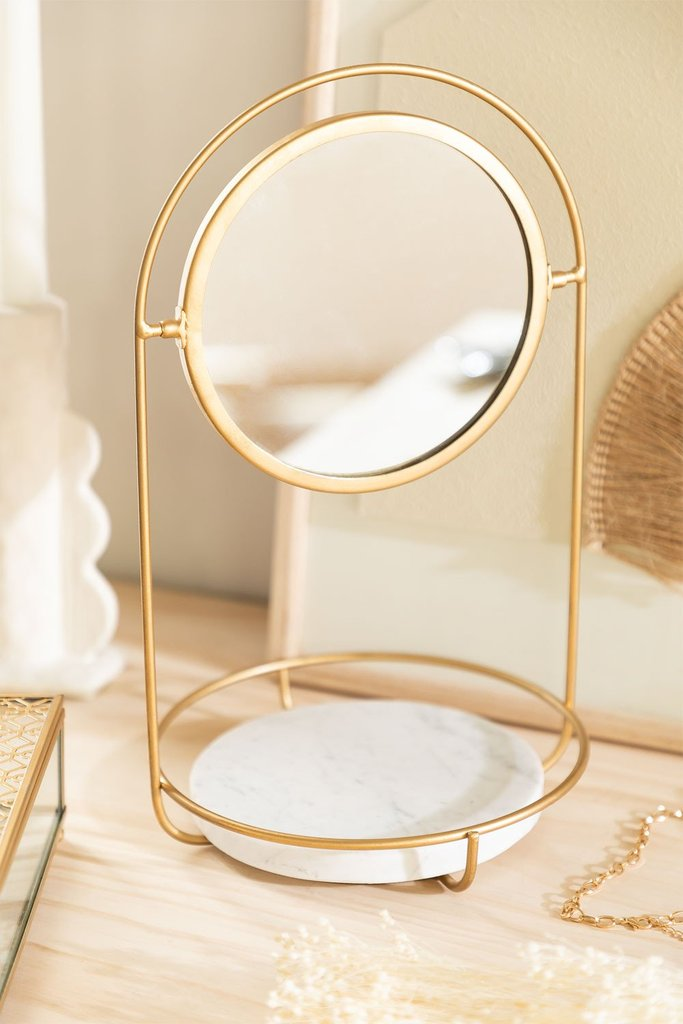 Table Mirror with Marble Tray Affra, gallery image 1