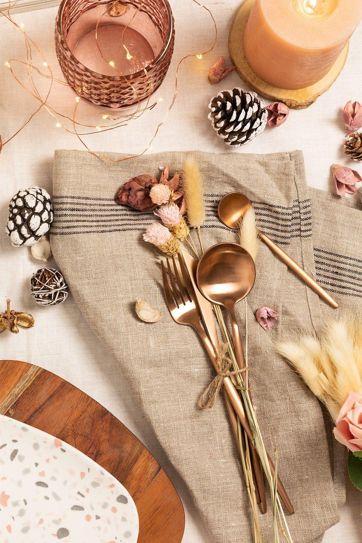 Matte Metallic Cutlery 16 pieces NOYA, gallery image 1