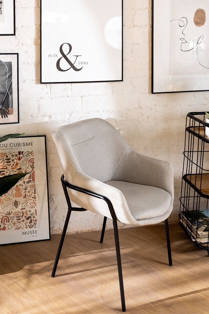 Leni Fabric Dining Chair, gallery image 1