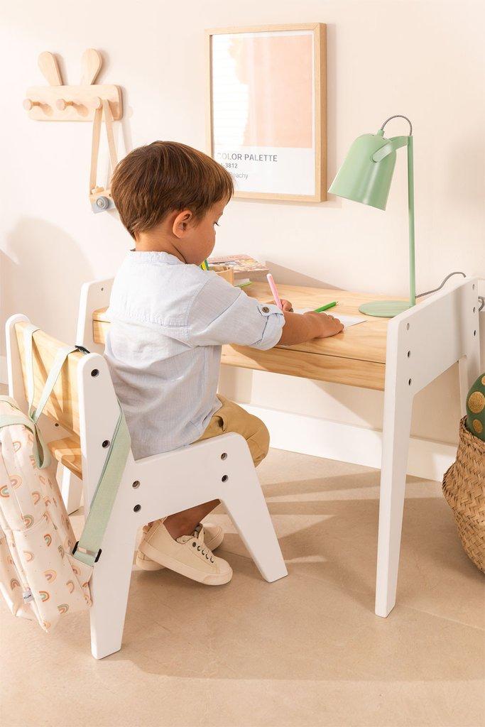 Blaby Kids Wood Table and Chair Set, gallery image 1