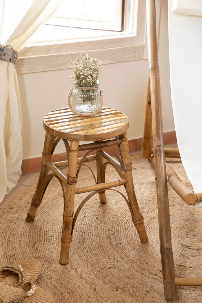 Ovne Low Bamboo Stool, gallery image 1