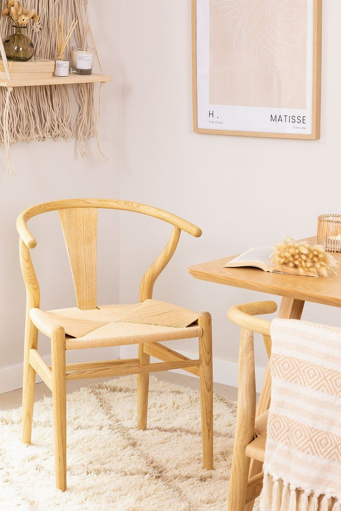 Uish Design Wood Dining Chair, gallery image 1