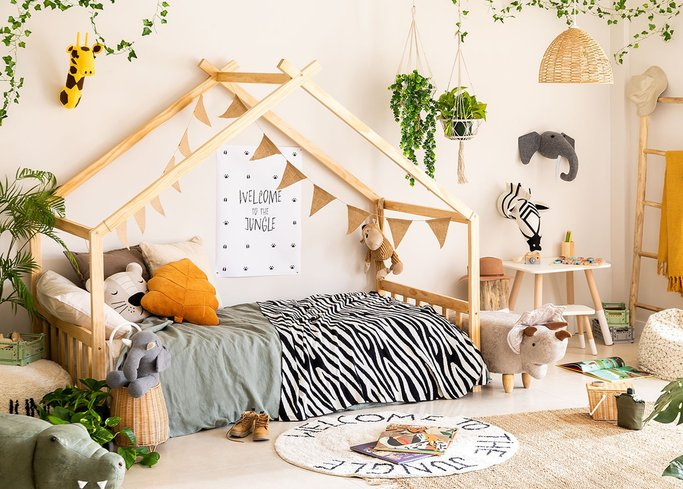 Kids Wooden Bed for Mattress 90 cm Maggie , gallery image 1