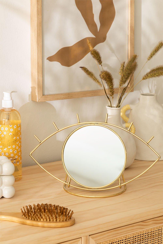 Table Mirror in Metal Lubin, gallery image 1