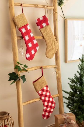 Set of 3 Christmas Stockings Tinsel