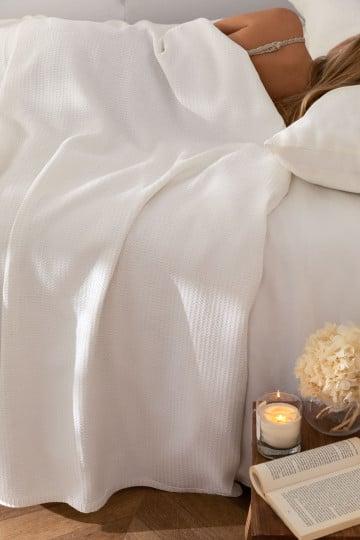Multipurpose Waffle Cotton Blanket (243x223 cm) Bimba