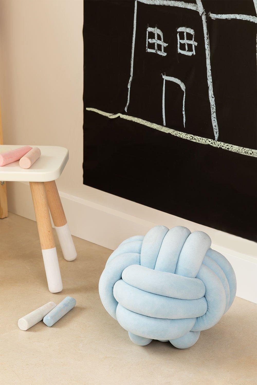 Velvet Cushion Oliver Kids, gallery image 1