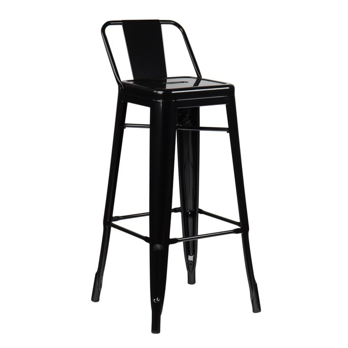 High Stool with LIX Steel Backrest, gallery image 1