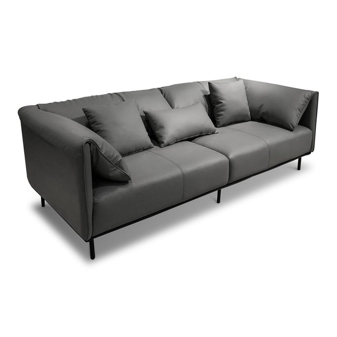 Three Seater Leatherette Sofa Kals, gallery image 1