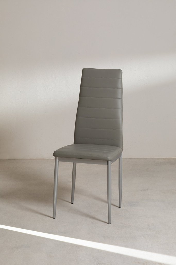 Tiggy Leatherette and Steel Dining Chair, gallery image 1