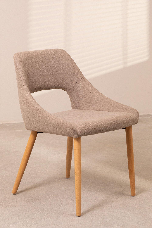 Luan Beech Wood Dining Chair, gallery image 1
