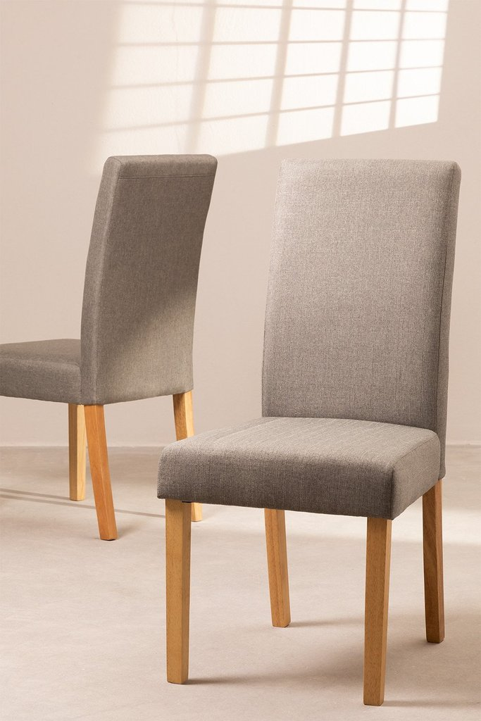 Pack of 2 Cindy Fabric Dining Chairs, gallery image 1