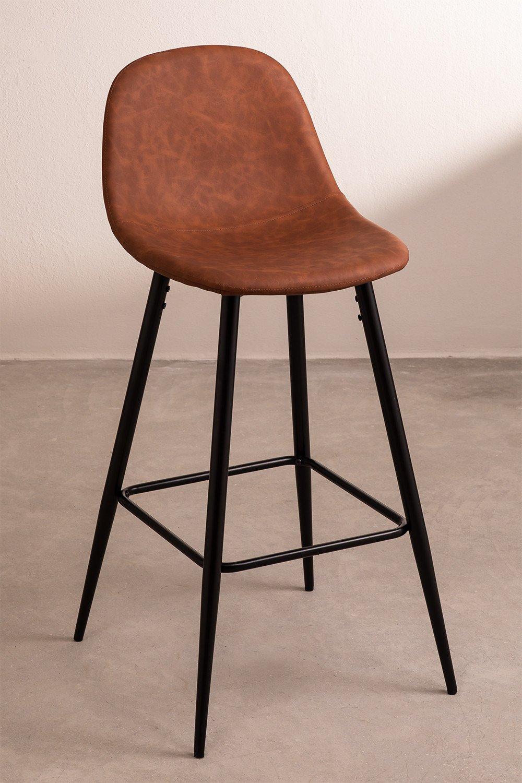 Glamm Leatherette High Stool, gallery image 1
