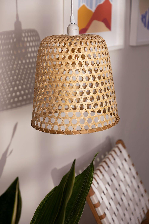 Ceiling Lamp in Rattan (Ø30 cm) Kalde, gallery image 1