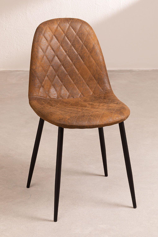 Glamm Diamond Leatherette Chair, gallery image 1