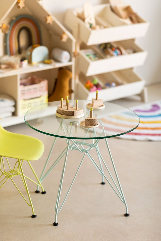 Round Scand Brich  Table Mate Kids (Ø60 cm) , gallery image 1