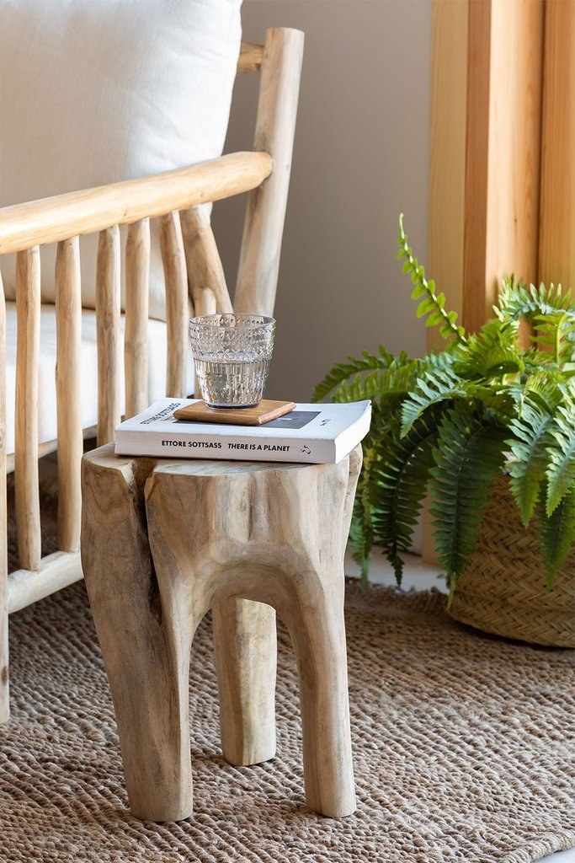 Tekka Wood Side Table, gallery image 1