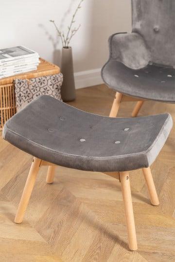 Velvet Upholstered Footstool Morris Edition