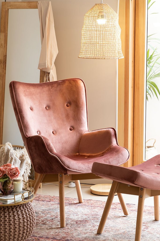 Armchair Upholstered in Velvet Morris Edition , gallery image 1