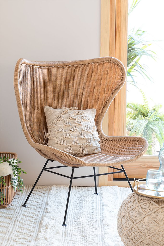 Isdra Synthetic Wicker Armchair, gallery image 1
