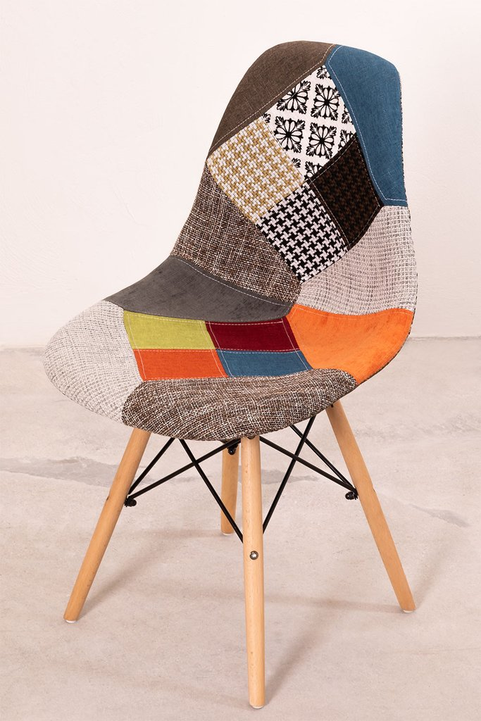 Upholstered Patchwork Scand SK Dining Chair, gallery image 808414