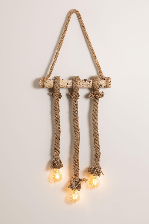 Wooden-Rope  Pendant Lamp Savy, gallery image 1